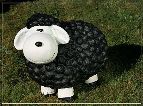 Dekofigur schwarzes Schaf bunte Schafe Tier Figuren für Haus und Garten