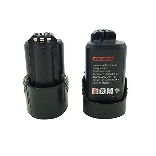 Kinon 2-Pack Ersatz-Elektrowerkzeug Akku 108V 15Ah Li-Ion für Bosch Akku-Bohrschrauber 2 607 336 013 2 607 336 014 BAT411 BAT412A GMF 108 V-LI GSR 108 V -LI2 GUS 108 V-LI