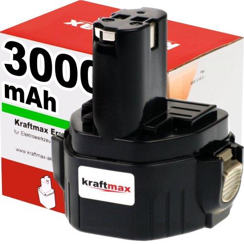 Kraftmax Hochleistungs-Akku für MAKITA 1234 - 12V  3000mAh  Ni-MH - Profiqualität mit frischen hochwertigen Markenzellen