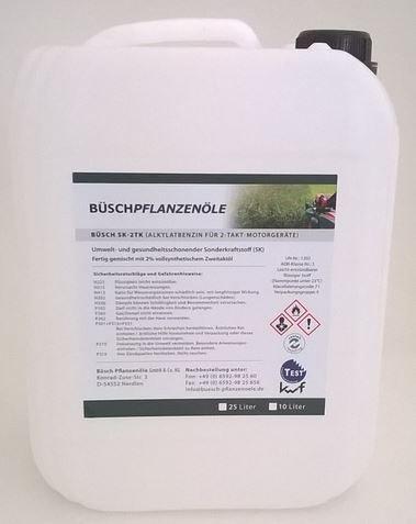 BÜSCH SK-2TK Alkylatbenzin für 2-Takt-Motorgeräte - Fertiggemisch 150 - Sonderkraftstoff mit kwf-Prüfzeichen - 25 Liter