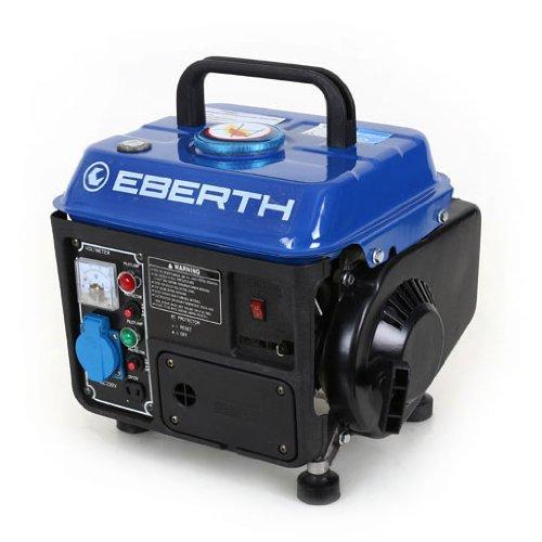 EBERTH 750 Watt Benzin Stromerzeuger 2 PS Benzinmotor 2-Takt luftgekühlt Seilzugstart 1-Phase 1x 230 V 1x 12 V Voltmeter