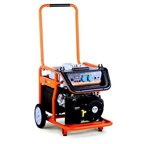 FUXTEC Benzin Stromerzeuger FX-SG7500 6500 Watt Leistung 16 PS 4-Takt Motor mit 420cc Hubraum - 2x 230V Anschluss -getestet als Best of in der Oberklasse mit Note 15