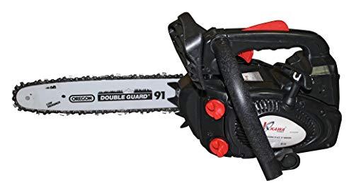 Kawapower 1 Motorsäge mit Motor 254cc Benzin 2 Takt und Kettenstange OREGON schwarz