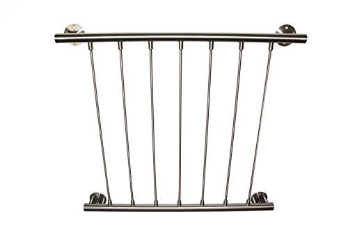 Französischer Balkon aus Edelstahl V2A nach Maß gefertigt als Bausatz 900 mm 1501 - 1600 mm
