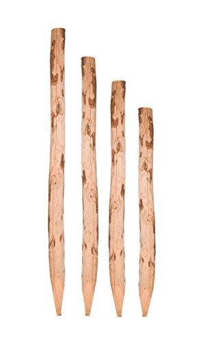 Nature LOUNGE Zaunpfosten Kastanie 100 cm - Kastanienpfosten Staketenzaun - Kastanienholz Zaun Pfosten Zaunpfahl Holz Pfahl
