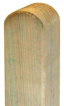 Pfosten Standard 9x9cm x 120cm - Rundkopf – kdiZaunpfosten aus frischem Holz gehobelt - 9x9 cm breit und 120 cm hoch - abgerundeter Kopf - kesseldruckimprägniert