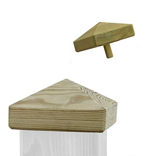 Pfostenkappe aus Holz für Pfosten 7x7 cm imprägniert
