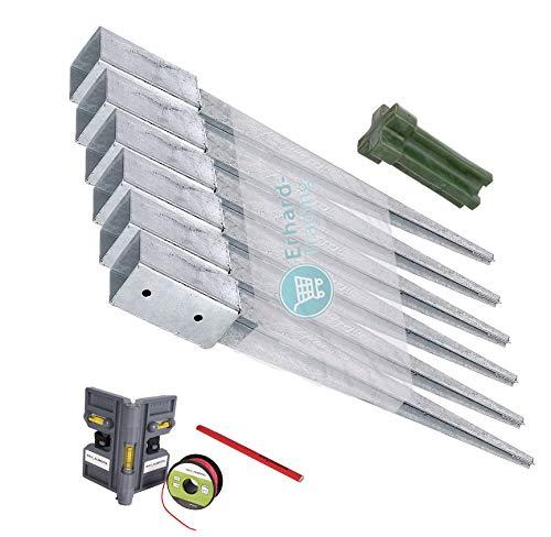 GAH-Alberts Einschlag-Bodenhülsen 6er-Set Einschlaghülse für Vierkantholz-PfostenZaun 71 x 71 mm 750 mm