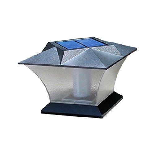 MOGOI Solar-Säule Lampe 18 LEDs superhell für Pfosten Deck Wasserdichte Zaunlampe mit Schrauben für Außen Terrasse Hof Deck Rasen Hinterhof Landschaft Garten Weg Weißes Licht