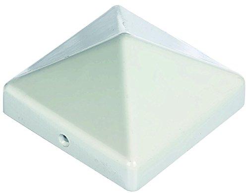 Premium Pfostenabdeckung für Pfosten 110x110 mm aus Aluminium weiß