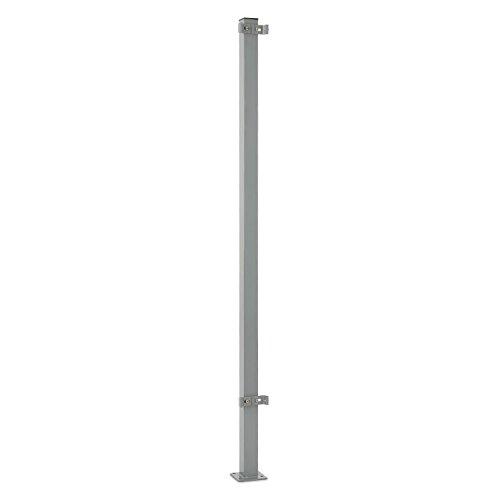 Blumfeldt Torre di Bari • Standpfosten • Zubehörteil für Bari Seitenmarkisen • 15 m hoch • Aluminium • pulverbeschichtet • wandunabhängige Befestigung • sicherer Halt • Bodenmontage • 4 x Schwerlastdübel • grau