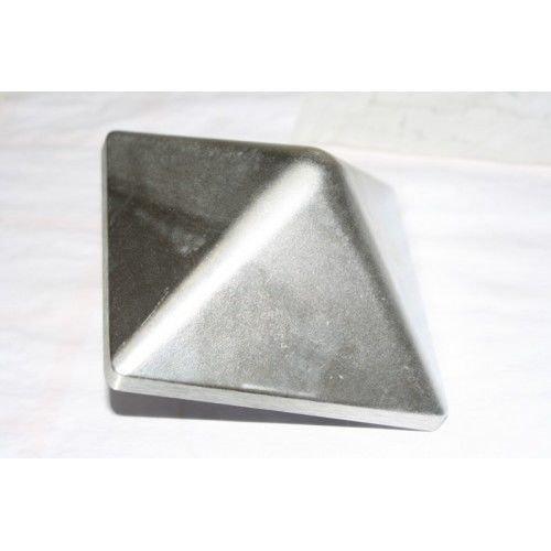 Gartenwelt Riegelsberger Pfostenkappe Aluminium 145 x 145 mm Pyramide mit Dorn Kappe für Pfosten 14 x 14 cm