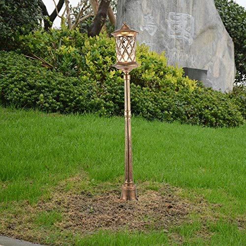 Hines Europa-amerikanische Victoria-Glaslaterne-im Freien Pfosten-Pfosten-Garten-Rasen-Licht-antiker Aluminium IP54 imprägniern Säulen-Stehlampe 1-Light E27 Straßenlaterne