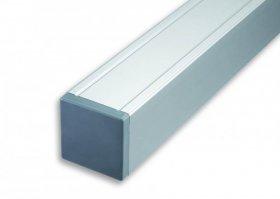 Ligna-Gard 88x88x1860 mm Aluminium Pfosten mit innenliegendem Holzkern ALU-silber
