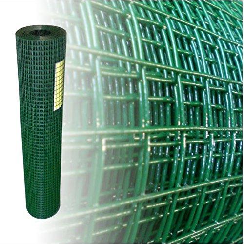 125 Meter Volierendraht Maschendraht 4-Eck Drahtzaun grün 19x19 mm 120 mm 150 cm