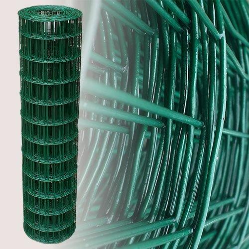 25 Meter Maschendrahtzaun Gitterzaun Drahtzaun grün Höhe 120 cm Maschenweite 75 x 10 cm Gartenzaun