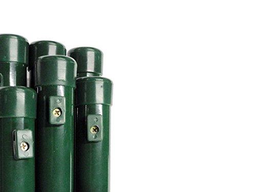 Pfosten Rohrpfosten Steher Zaunpfosten Rundpfosten zum Maschendrahtzaun Premiumqualität Ø 34 mmLänge 120 cm - für Zaunhöhe 80 cm Paket á 6 Stk