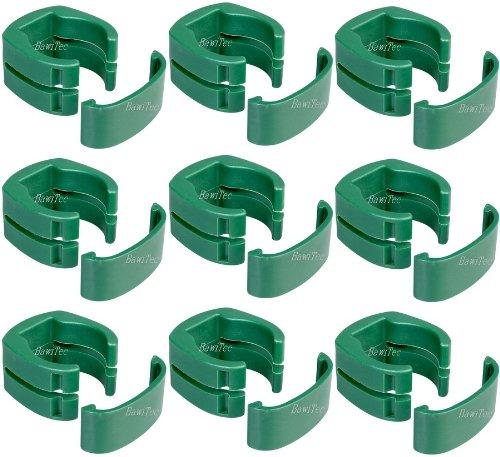 9x Zaun Befestigung Maschendraht Zaunpfosten Halterung 34mm-Pfosten Fix-Clip-Pro grün