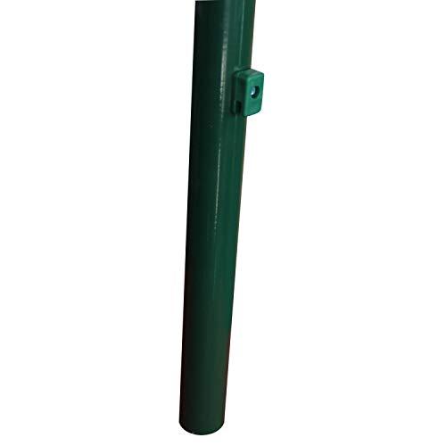 TOP MULTI Maschendraht-Zaun 08m x 15m Rolle in grün Komplett-Set  zum Einbetonieren  Stahldraht verzinkt  Maschenweite 60x60 mm  Höhe Länge wählbar  Drahtzaun  Garten-Zaun  Viereckgeflecht