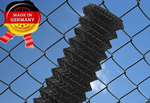 Maschendrahtzaun 60 x 60 mm 25 ldm 150 cm anthrazit - schwarz Maschendraht Zaun Rolle Zaunrolle