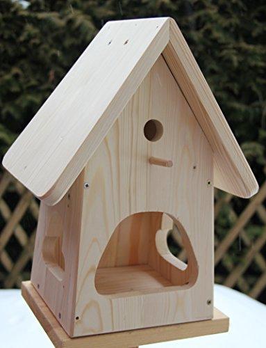 Dekorativer NistkastenNB2-mit Vogelfutterhaus zum selbst bauen-Bausatz-Vogelhaus-Vogelhäuschen-sauberste Verarbeitung-Vogelhaus Garten Deko