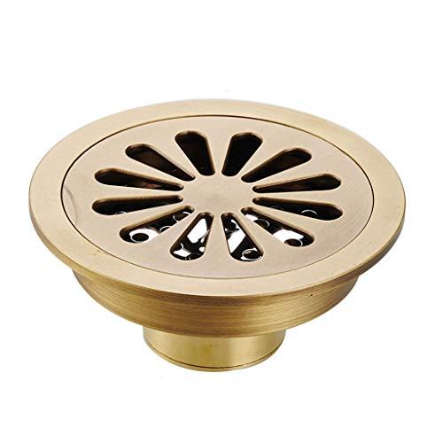 Runde Kupfer Deodorant Bodenablauf Bad Dusche Kanalisation Insekt Prävention und Blockierung Große Verschiebung Bodenablauf 10 cm Farbe  C