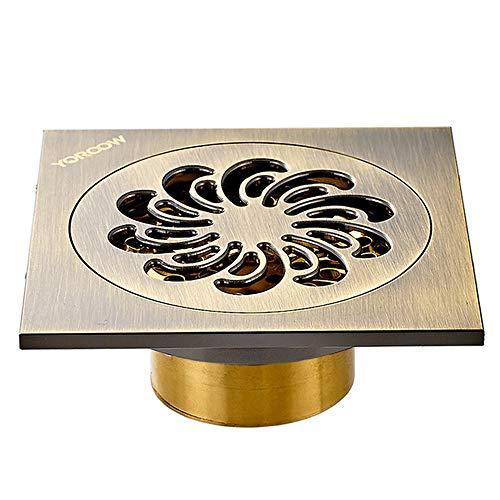 YYROP dusche Drainage Deodorant Bad bodenablauf Kupfer Anti-blockierung dusche Bad Balkon 10  10 cm L