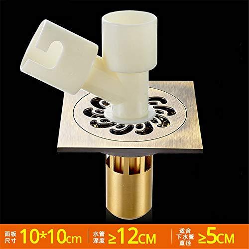 YYROP dusche entwässerung Deodorant Bad bodenablauf Kupfer Anti-blockierung dusche Bad Balkon 10  10 cm D