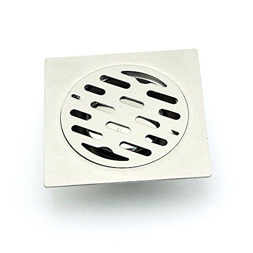owfeel TM Edelstahl Dusche Bodenablauf mit abnehmbarem Sieb Boden Abtropfgestell