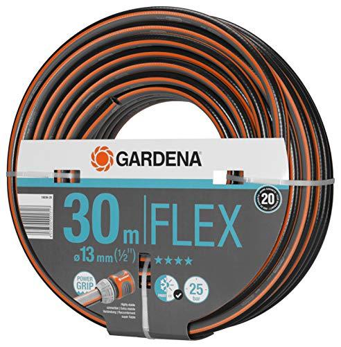 Gardena Comfort Flex Schlauch Formstabiler Flexibler Gartenschlauch mit Power-Grip-Profil Spiralgewebe 25 bar Berstdruck ohne Systemteile 13 mm 12 Zoll 30 m