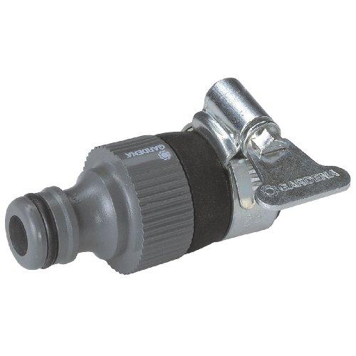 GARDENA Wasserdieb Universal Wasserhahn-Adapter zum Anschluss des GARDENA Gartenschlauchs an einen Wasserhahn ohne Gewinde mit 14–17 mm Außendurchmesser korrosionsbeständig 2908-20