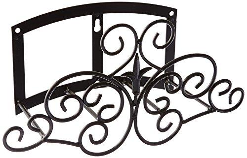 Panacea Produkte Classic Krone und Scrolls Gartenschlauch-Aufhänger schwarz