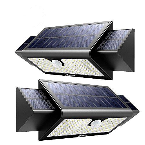 【2 Packungen】 Zanflare Solar Lampe mit Bewegungsmelder 71 LED Licht 1000LM 5200mAh Wasserdicht Solarenergie Lampe Licht Bright Outdoor-Sicherheit für Garten Hof Pfad mit Bewegung
