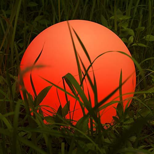 Kugelleuchte Homever LED-Solar-Kugelleuchte Wasserdicht Schwimmkugel Outdoor Leuchtkugel Mit 9 Farbwechselmodi für GartenTeichPoolParty