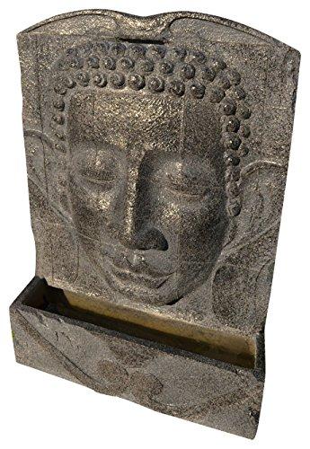 Heissner GartenTerrassen Brunnen Polystone Buddha grau
