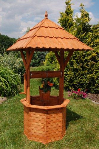 Zierbrunnen Holzbrunnen Gartenbrunnen Brunnen 215 m Dach 110x110m imprägniert