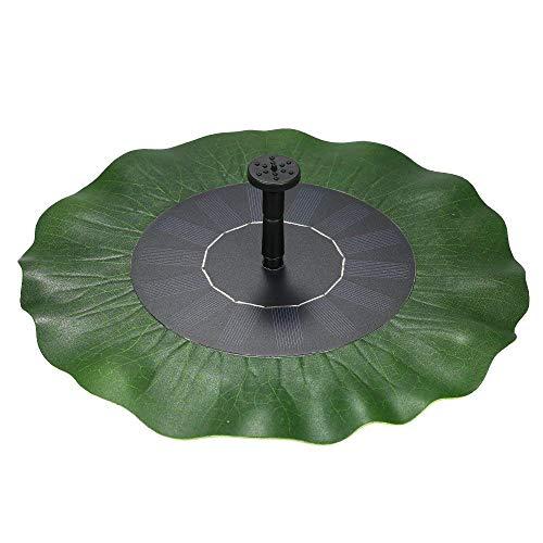 AUFUN 14W Solar Springbrunnen Lotusblatt Teichpumpe Brunnen Solarpumpe Fontäne für Gartenteiche Fisch-Behälter Garten Springbrunnen Wasserspiel Dekoration Type B