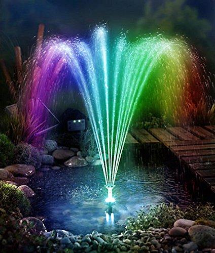 LED Springbrunnen mit Akku 9 Watt Power für Garten Solarpumpe Gartenteich Teichpumpe Springbrunnenpumpe