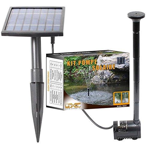 Linxor  Solar Wasserpumpe teichpumpe für Springbrunnen Teich oder Garten – 5 Meter Kabel – EG-Norm