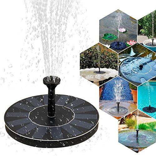 Solar Springbrunnen Mture Solar Teichpumpe Springbrunnen Solar Pumpe mit 14W Monokristallinem Solar Wasserpumpe Fontäne Pumpe für Gartenteiche Fisch-Behälter Vogel-Bad und kleiner Teich