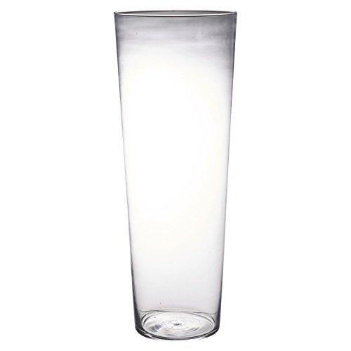 Glas Vase Tisch Tafelausatz Dekorativ Blumen Display - Konisch H40 x D15cm
