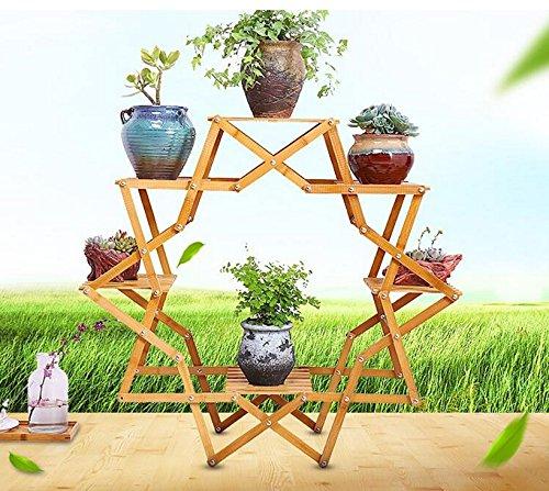 Pflanzenregale Kreative Echtholz Balkon Blume Sitzecke Indoor Topfpflanze europäischen Stil Holz mehrschichtigen Boden Fleisch Fleisch Regal Blumenständer
