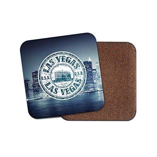 Las Vegas USA Kork Getränke Untersetzer für Tee Kaffee  4209 holz 3 Coaster