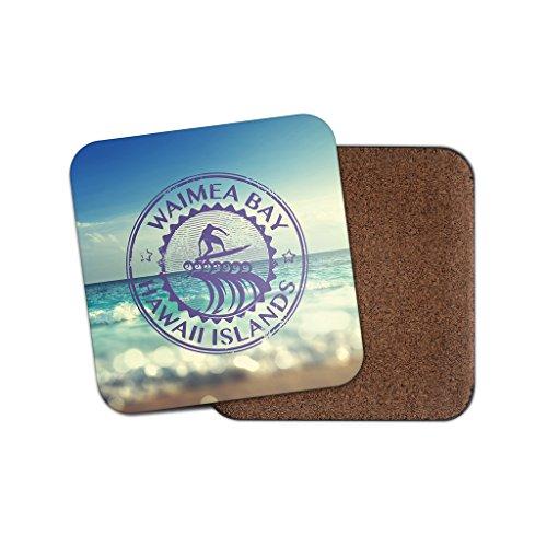 Waimea Bay Hawaii Kork Getränke Untersetzer für Tee Kaffee  4087 holz 1 Coaster
