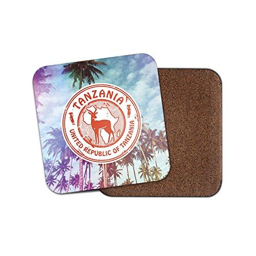 Tansania Afrika Safari Kork Getränke Untersetzer für Tee Kaffee  4252 holz 2 Coasters