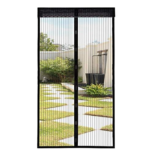 Fliegengitter Tür Magnet Insektenschutz Magnetischer Fliegenvorhang Moskitonetz Full-Frame-Klettverschluss Automatisch geschlossen Größe 90cm210cm