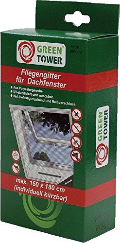 Green Tower Insektenschutz Fliegengitter für Dachfenster 150 x 180 cm 1