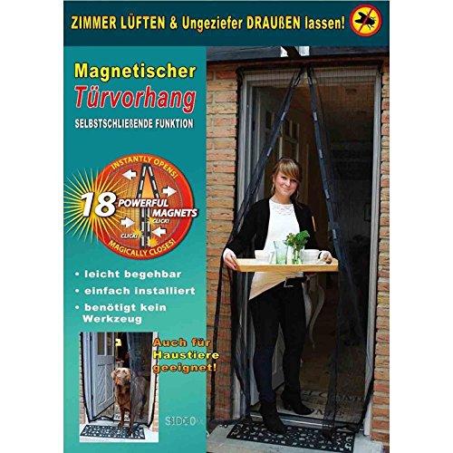 SIDCO Insektenschutz Fliegengitter Magnet Vorhang Moskitonetz Fliegennetz ca210 x 100 cm