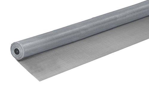 Windhager Insektenschutz Fliegengitter Aluminium-Gewebe Alu-Gitter ideal auch für Lichtschächte robust widerstandsfähig zuverlässiger Schutz silber 120 x 250 cm 03623