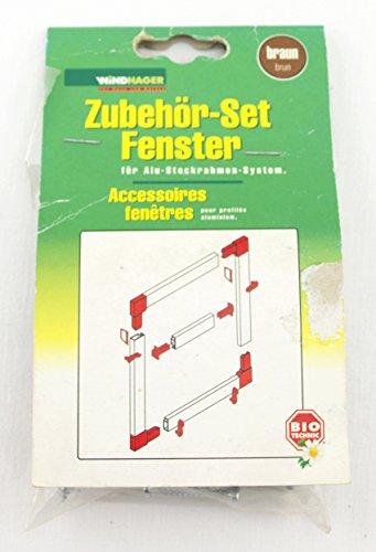 WINDHAGER - Insektenschutz - Insekten - Alusteckrahmen - Zubehörset Fenster für Alu-Steckrahmen System - braun